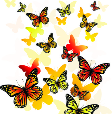 Beautiful butterfly clipart free vector download (14,206.