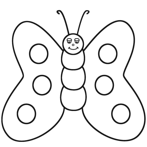Butterfly Clipart For Coloring.