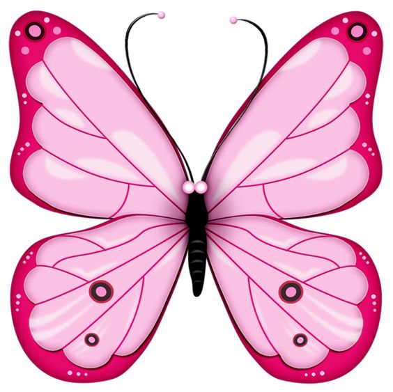 Pink Transparent Butterfly Clipart: Heart Butterfly1 Png, Bug.