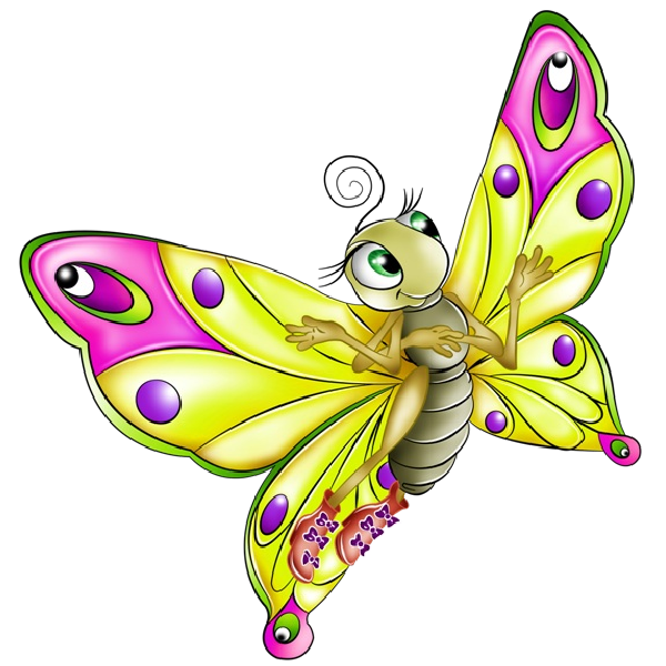 Very Colourful Butterfly Cartoon Images. All Images Are On A.