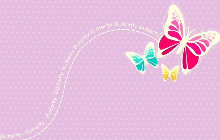 Pink Butterfly Backgrounds.
