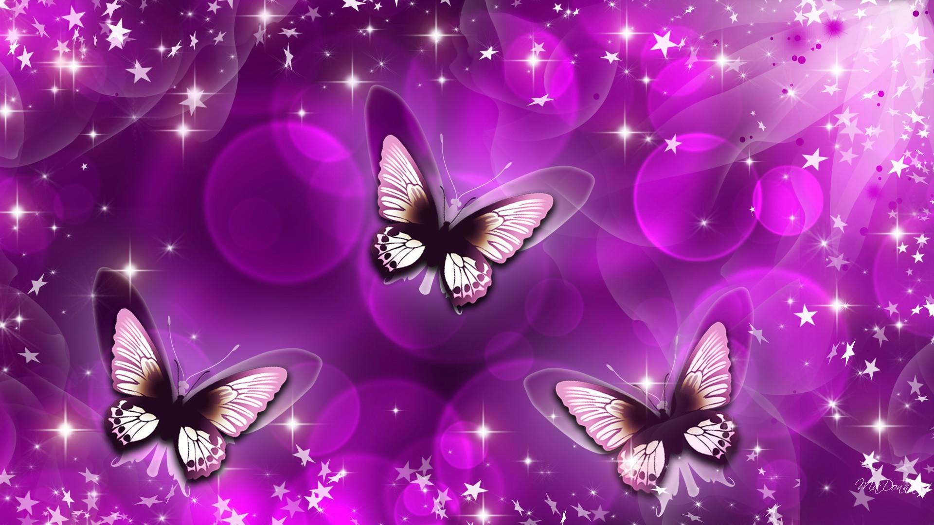 Purple Butterfly Clip Art.