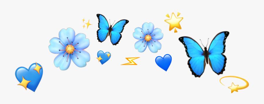 Blue Emoji Flower Crown , Free Transparent Clipart.