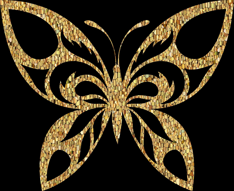 Golden Butterfly Clipart.