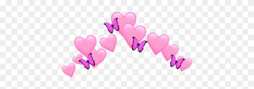 heart #pink #hearts #butterfly.