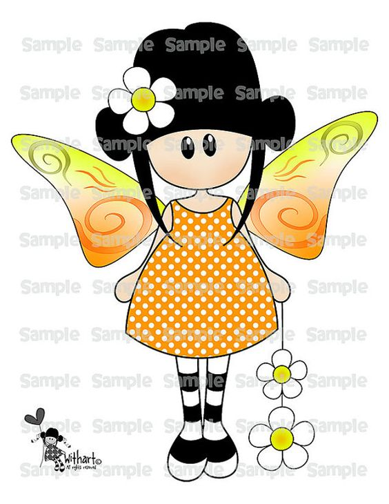 Spring butterfly Nina dolls (0376) clip art set images for.