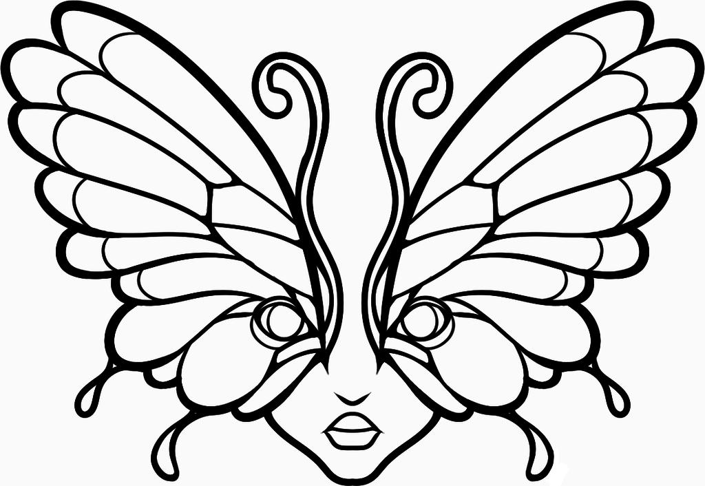 Butterfly Lineart.