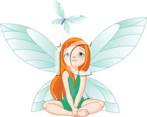 Fairy With A Butterfly.