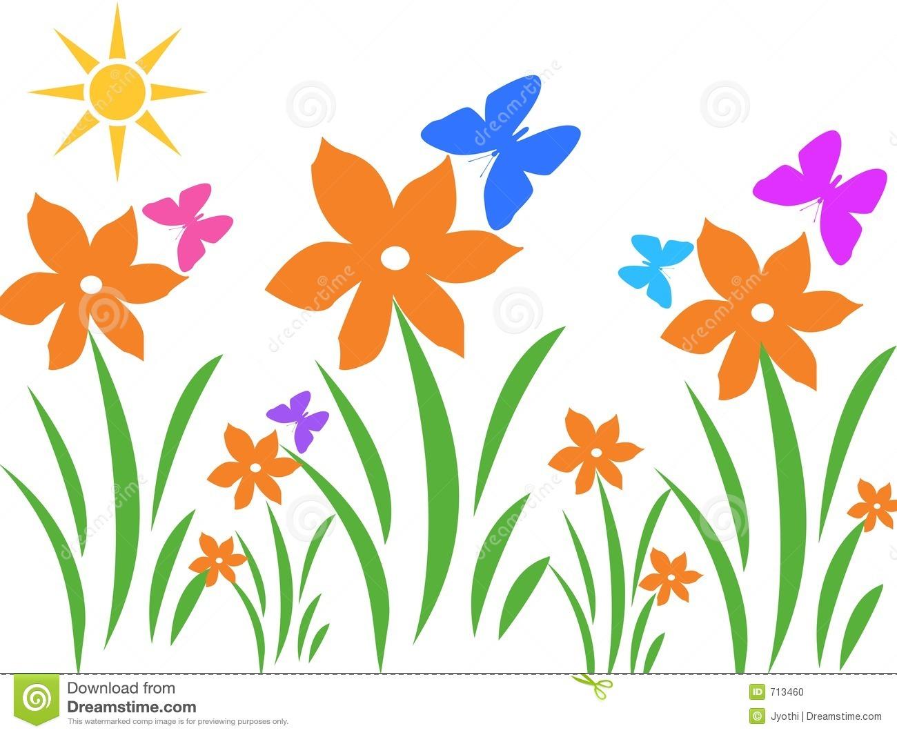 Garden Scenes Clipart.