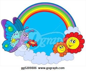 Butterfly Flower Clipart.