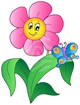 Butterfly And Flower Clipart.