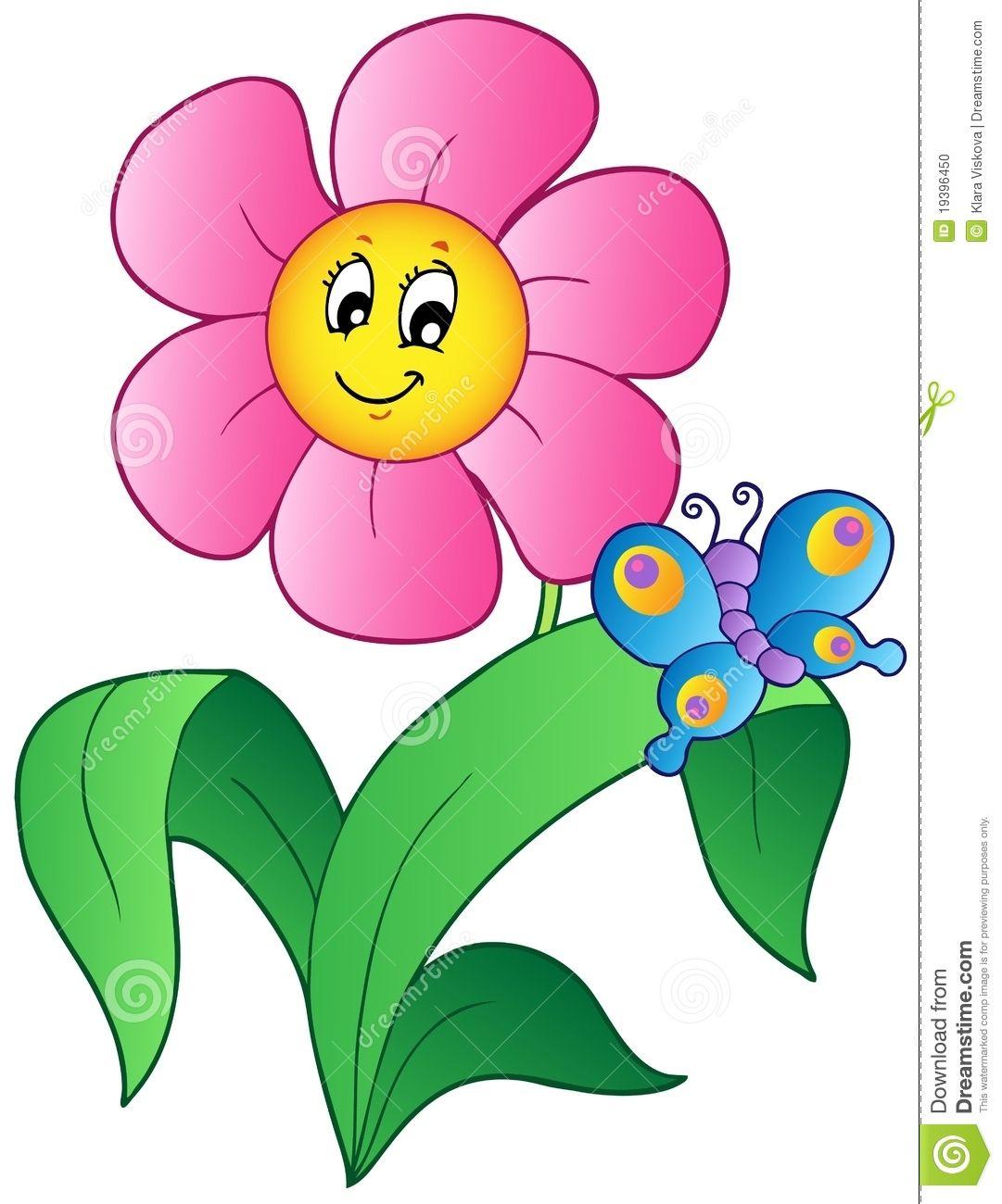 butterfly flower cartoon images.