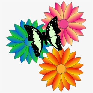 Free Butterfly And Flower Clipart Cliparts, Silhouettes, Cartoons.