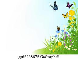 Butterfly Flower Clip Art.