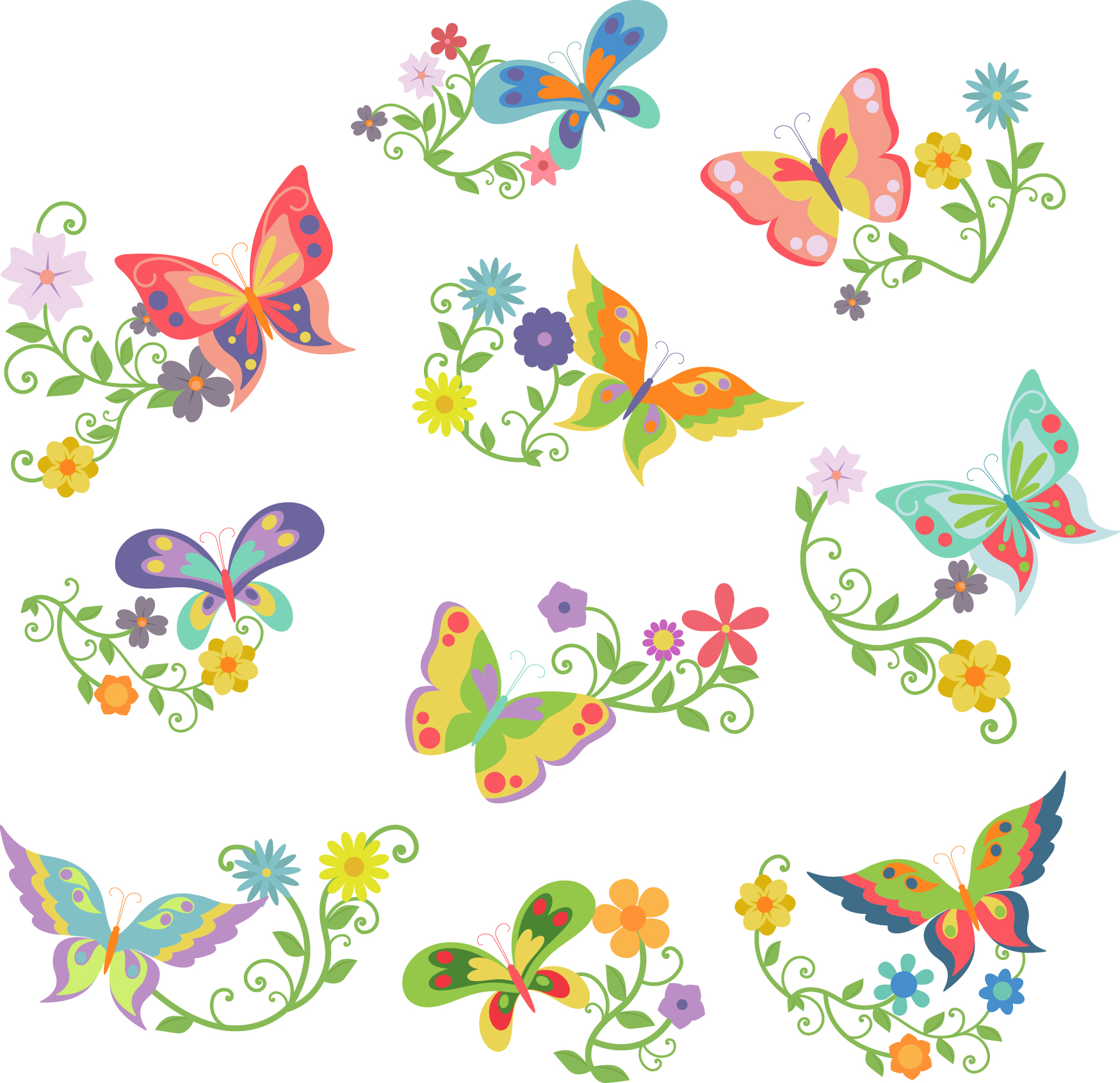 Butterfly flower clipart 5 » Clipart Station.