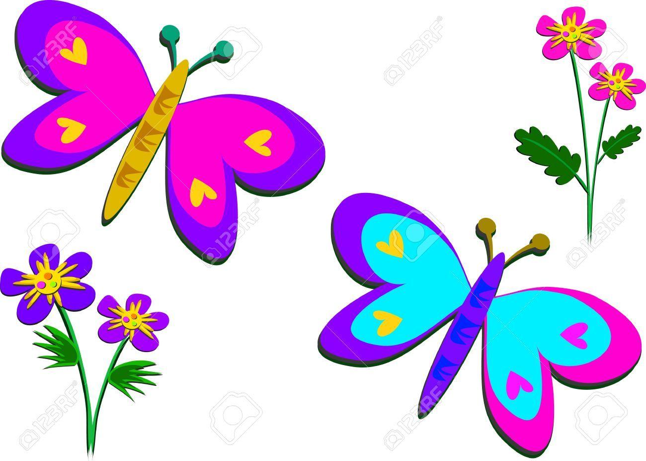 Butterfly flowers clipart 2 » Clipart Portal.