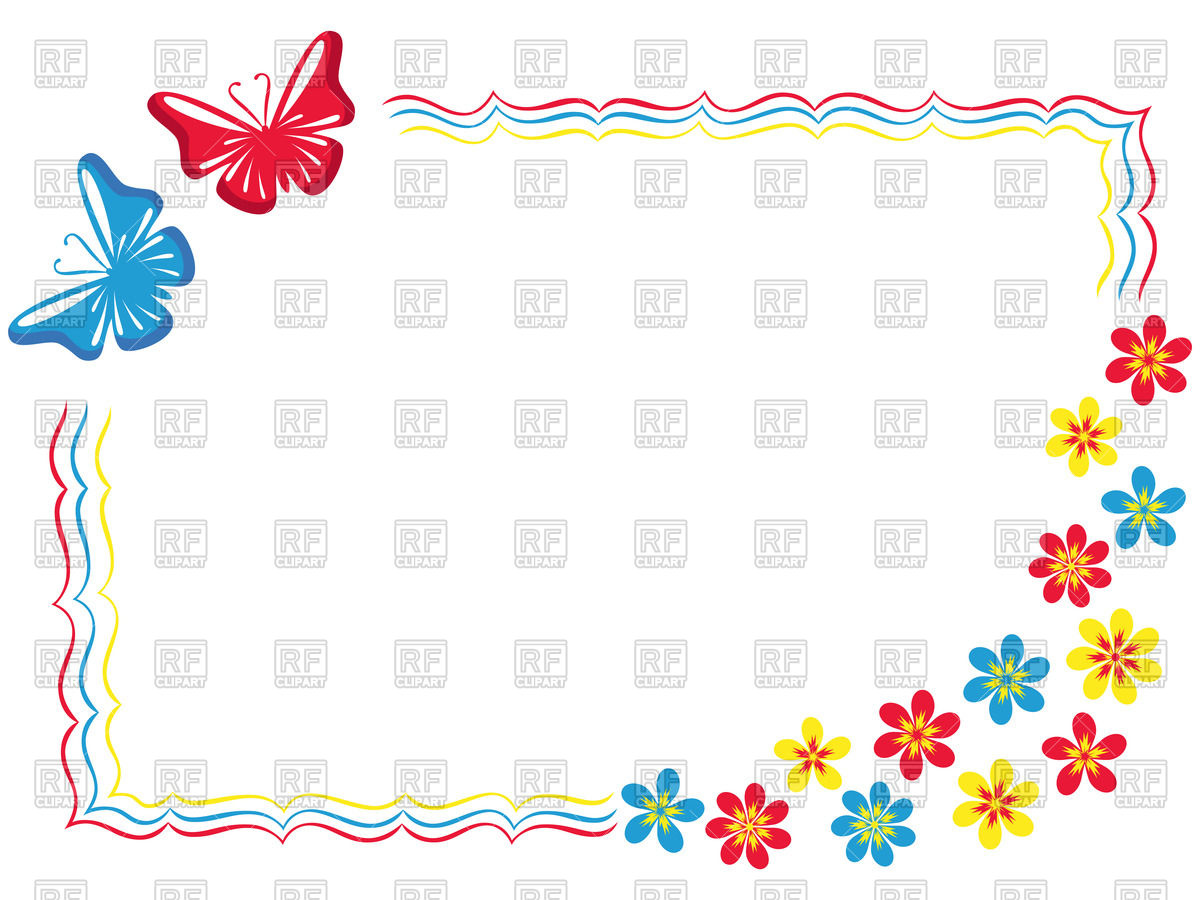 Butterfly Frame Clipart.