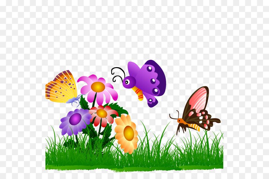 Butterfly gardening Butterfly gardening Clip art.