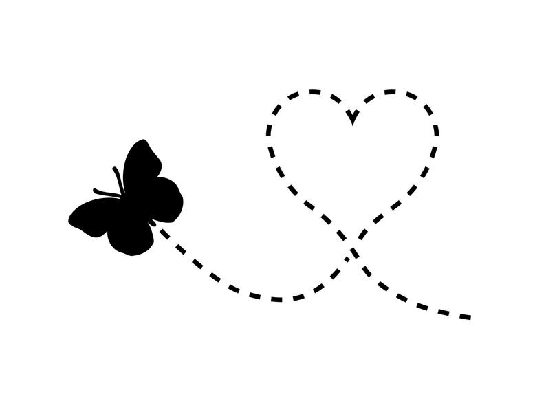 Flying Butterfly Svg Heart Butterfly Clipart File Butterfly png Image File  Clip Art Vector.
