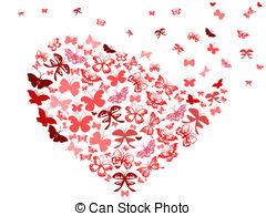 Butterfly heart wings clipart.