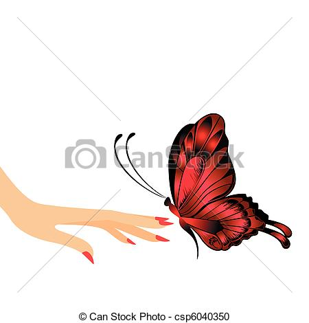 Butterfly In A Hand Clipart.
