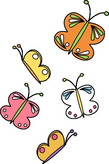 Butterflies Flying Clipart.