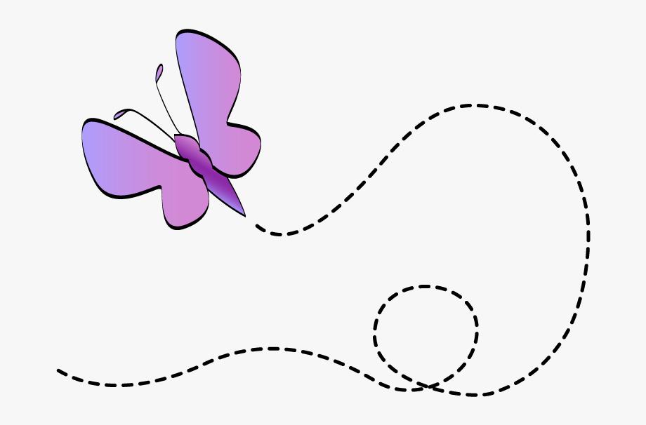 Scroll Butterfly Clip Art.