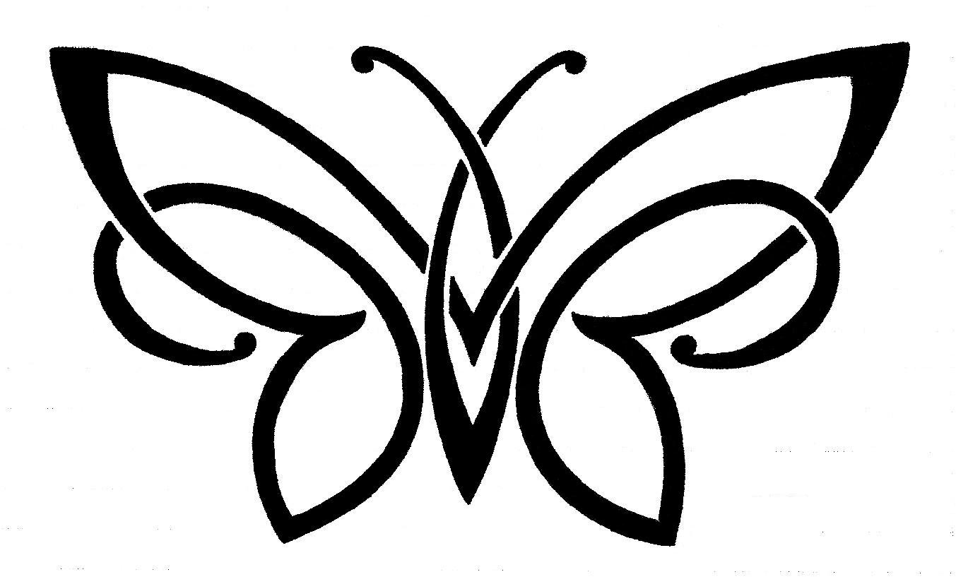 Butterfly Wing Outline.