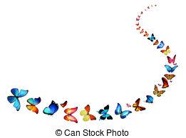 Butterfly Line Clipart.