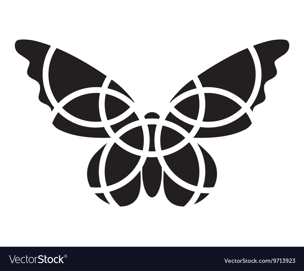 Butterfly icon Mosaic butterfly clipart.