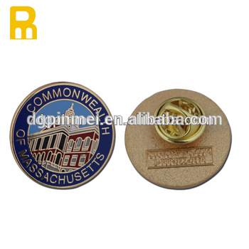 Customized Company Logo Metal Pin Badge With Butterfly Clutch.