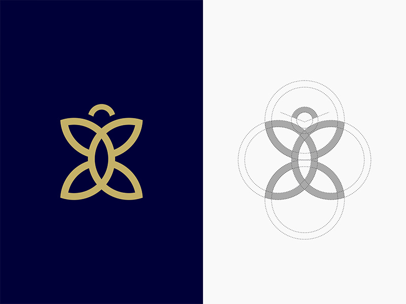 Butterfly Logo Icon by ninashaw on Dribbble.