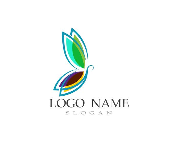 Butterfly logo and symbol Vector.