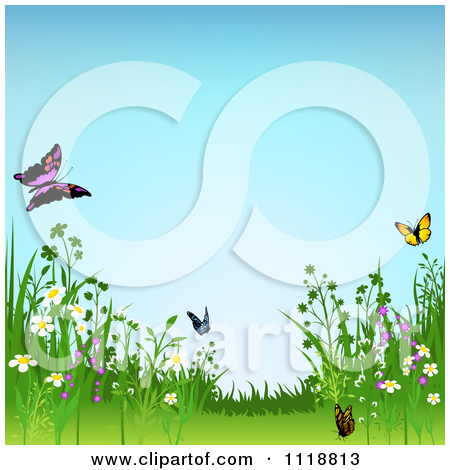 Wild meadow clipart #10