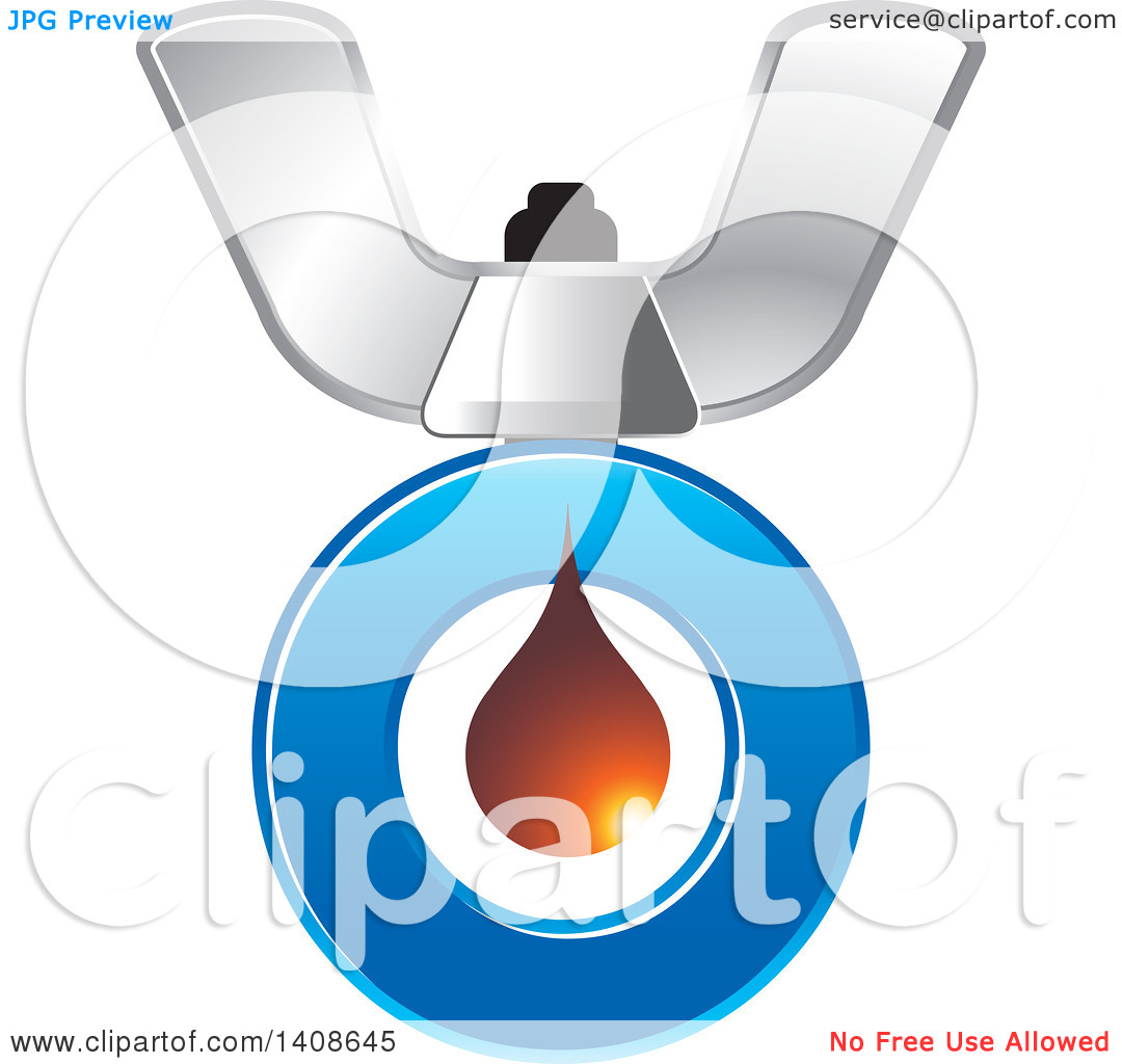 Clipart of a Butterfly Nut and Letter O.