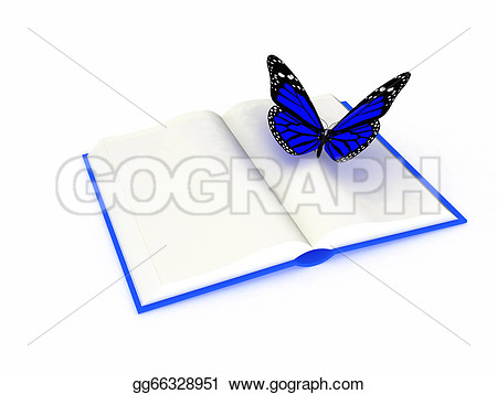 Butterfly On A Book Clipart.