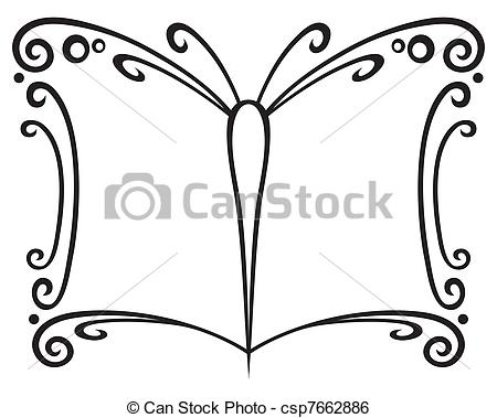 Clip Art Vector of Book symbol.