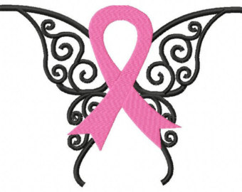 Butterfly On Cancer Ribbon Clipart 20 Free Cliparts