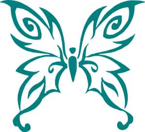 Cancer Ribbon Butterfly Clipart.