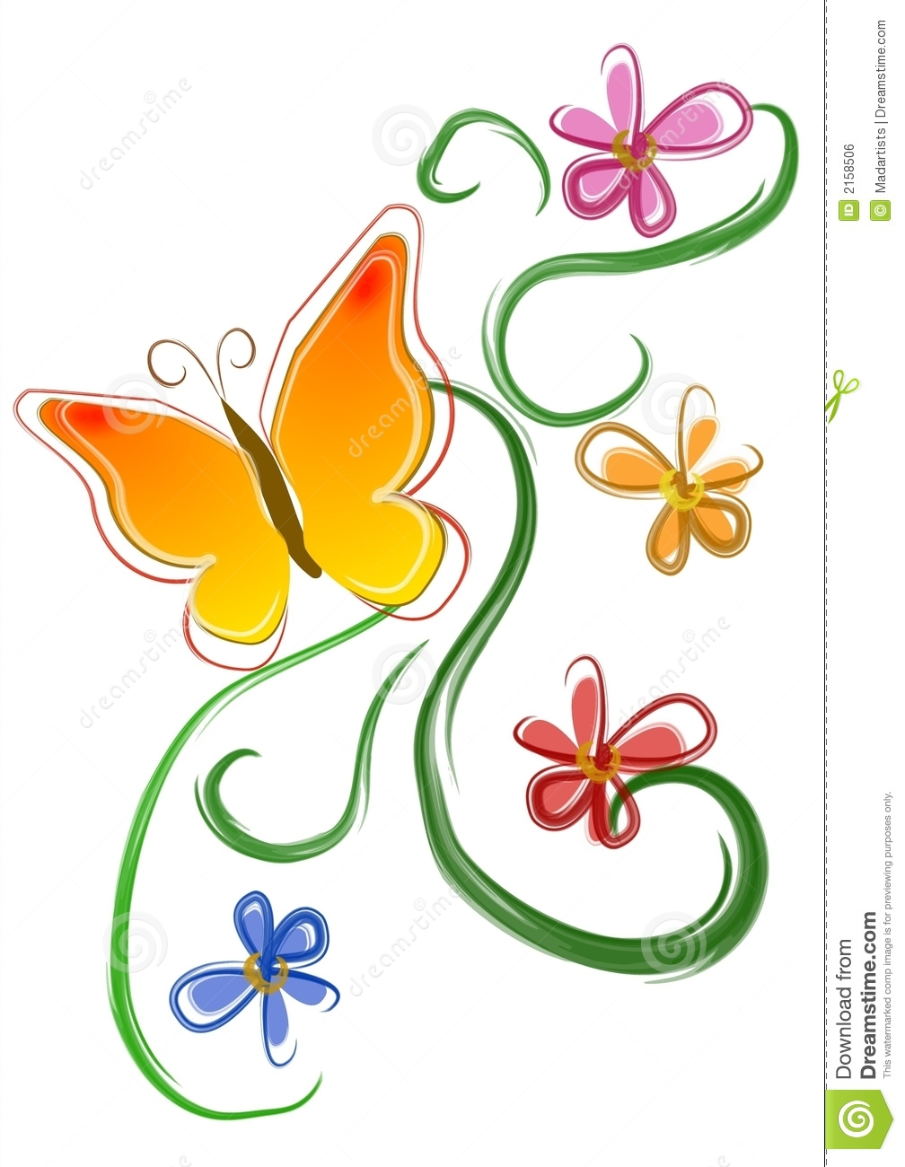 Butterfly flower clipart 8 » Clipart Station.