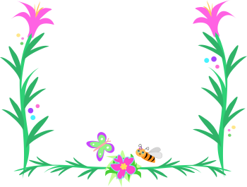 Butterfly flower border free clipart.