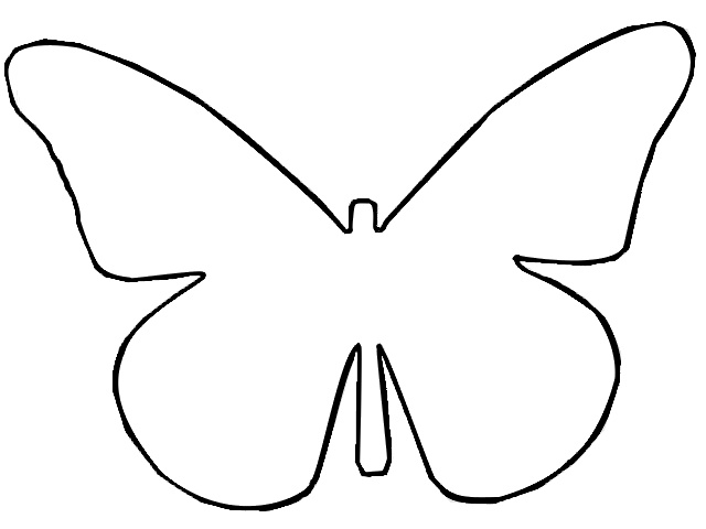 Best Photos of Butterfly Outline Clip Art.
