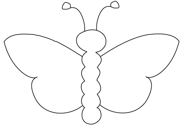 Clipart Butterfly Outline.
