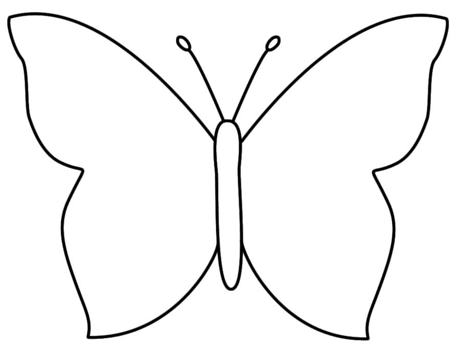 Butterfly outliine clipart clipground - Dessin papillon simple ...