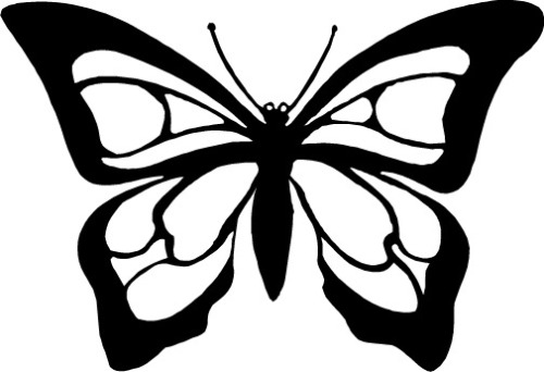 Butterfly Outline Clipart.