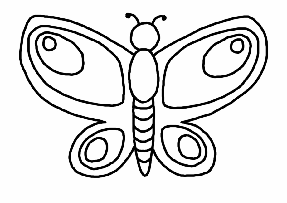 Butterfly Outline Png Transparent Background.
