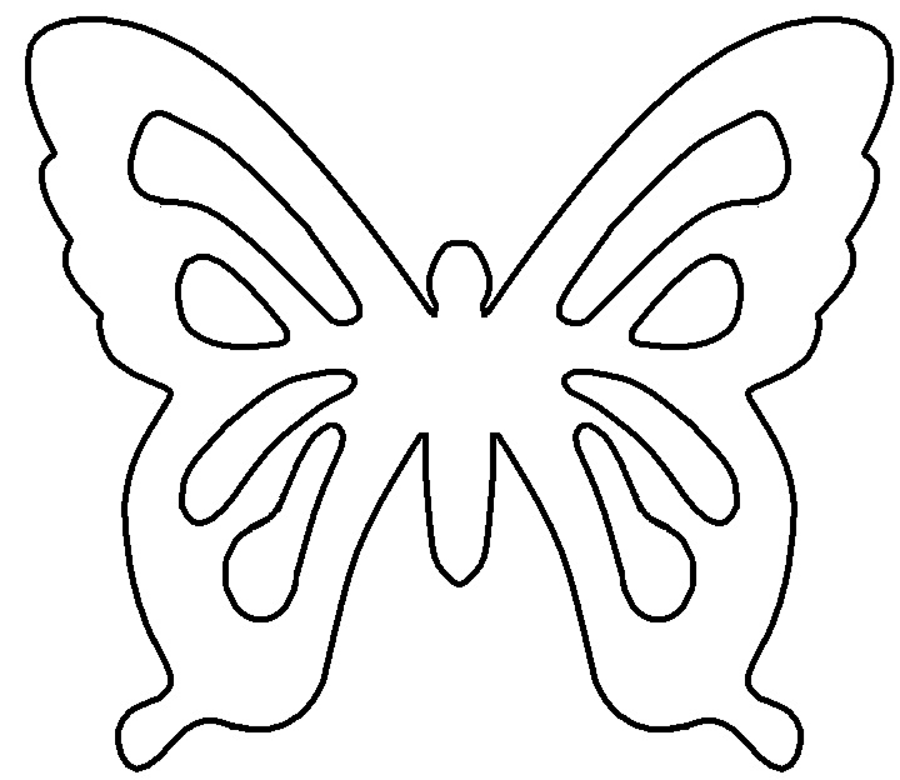 Best Butterfly Outline #1172.
