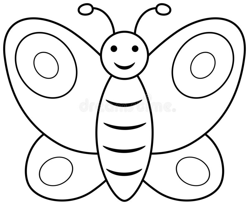 Butterfly Outline Stock Illustrations.