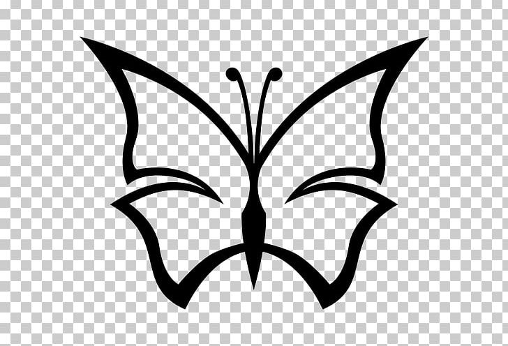 Butterfly Drawing PNG, Clipart, Artwork, Black And White, Brush.