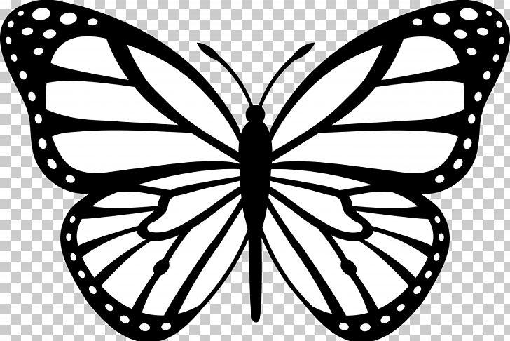 Monarch Butterfly Outline PNG, Clipart, Abstract, Area, Arthropod.